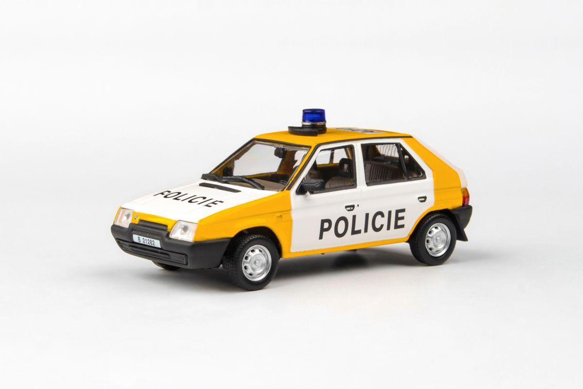Kovový model Škoda Favorit 136L - Policie ČSFR