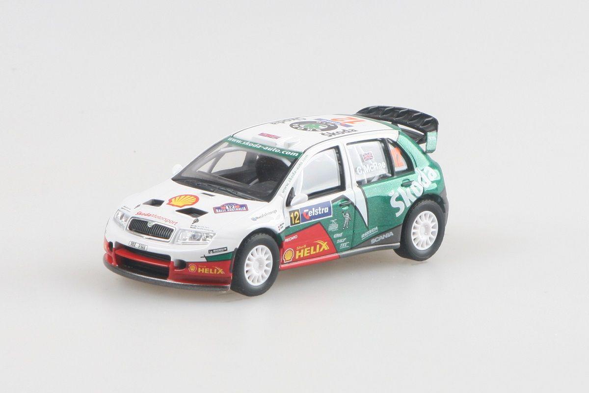 Kovový model Škoda Fabia WRC - rally australia 2005