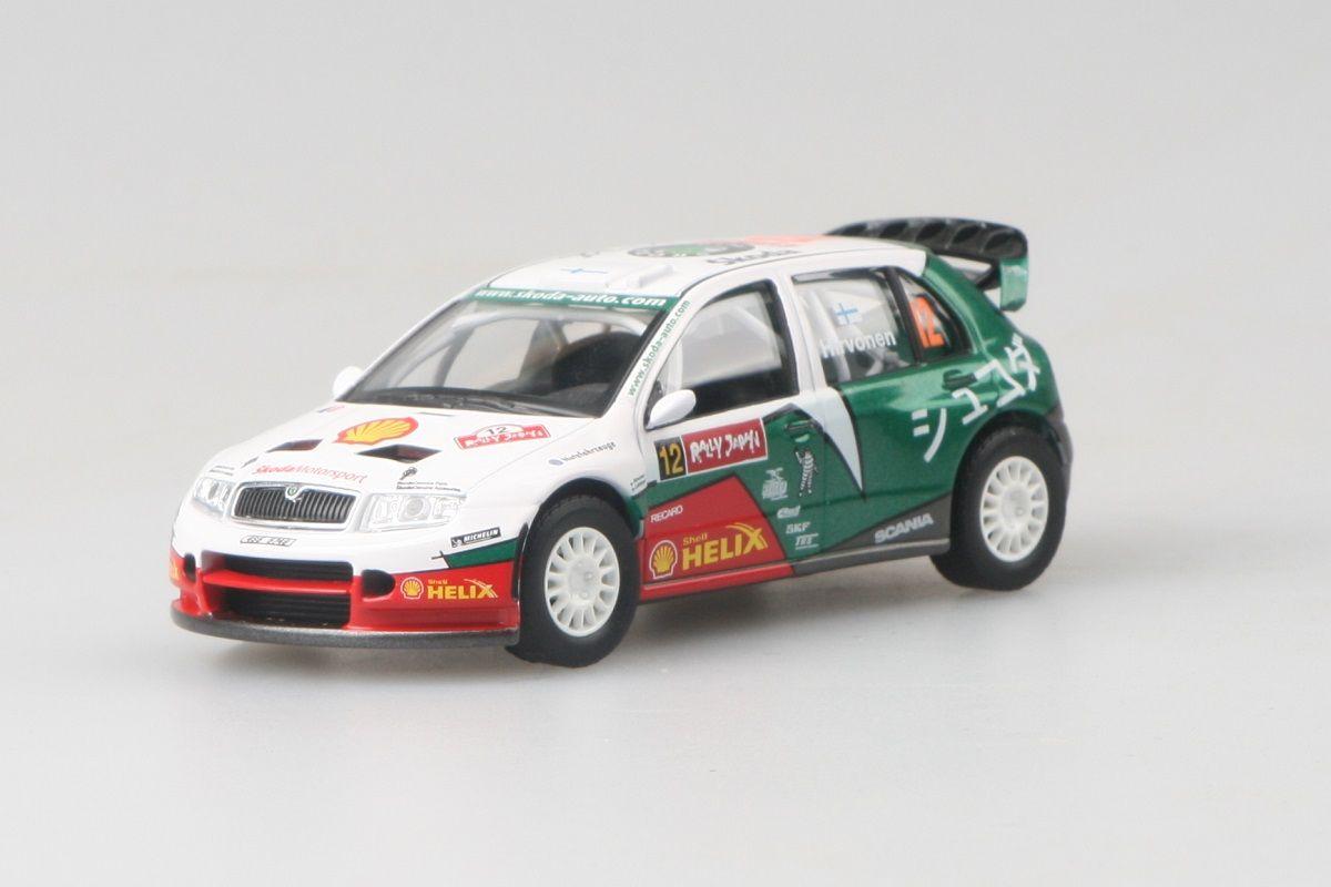 Kovový model Škoda Fabia WRC - pohled zepředu