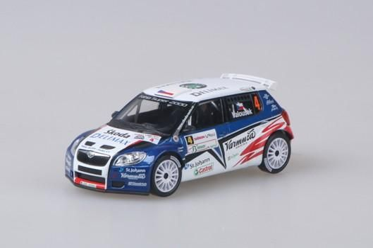 Škoda Fabia II S2000 (2009) 1:43 - Valašská Rally 2010 #4 Valoušek jr. - Hrůza