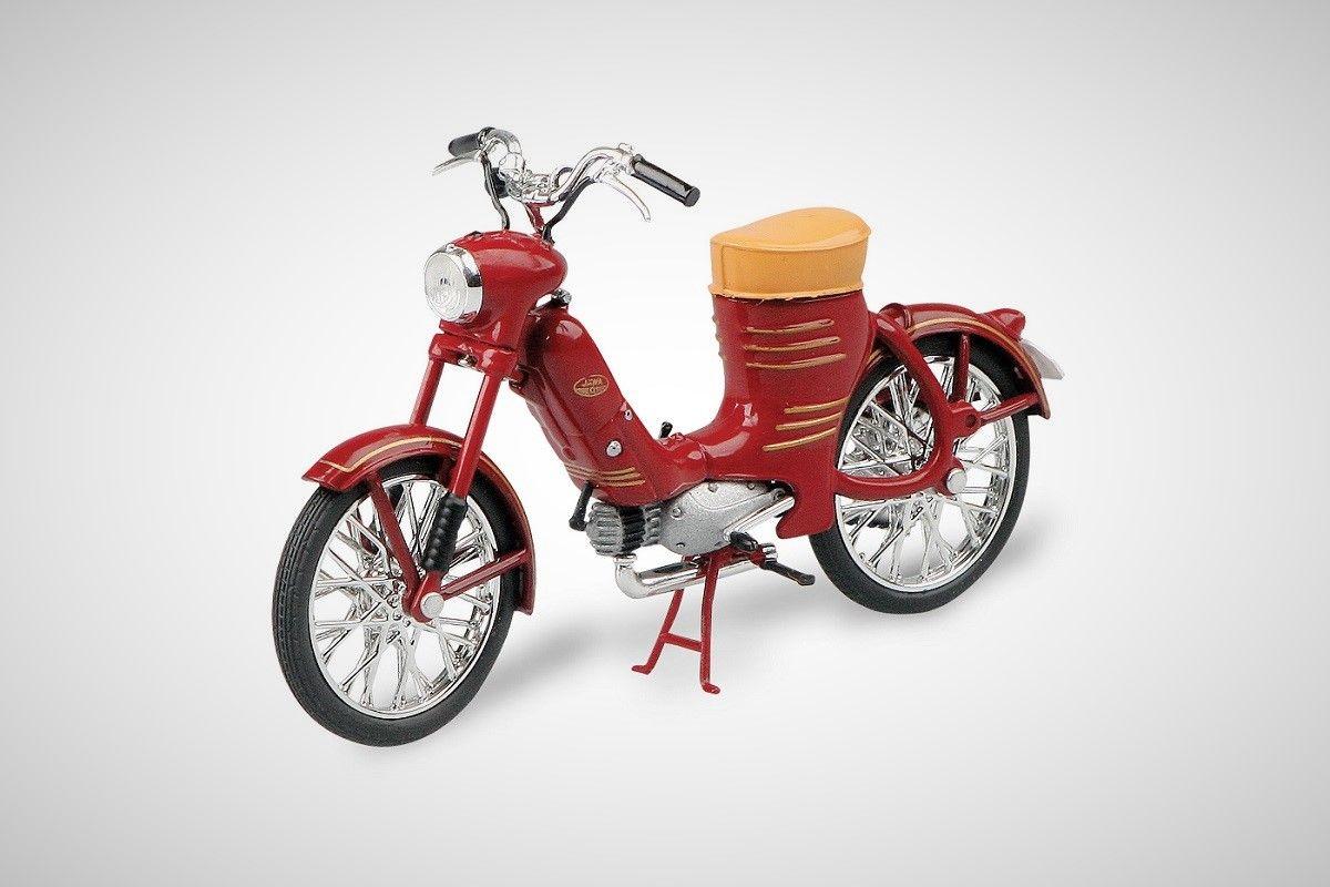 Jawa 50 Pionýr Pařez (1955) 1:18 - Tmavě Červená