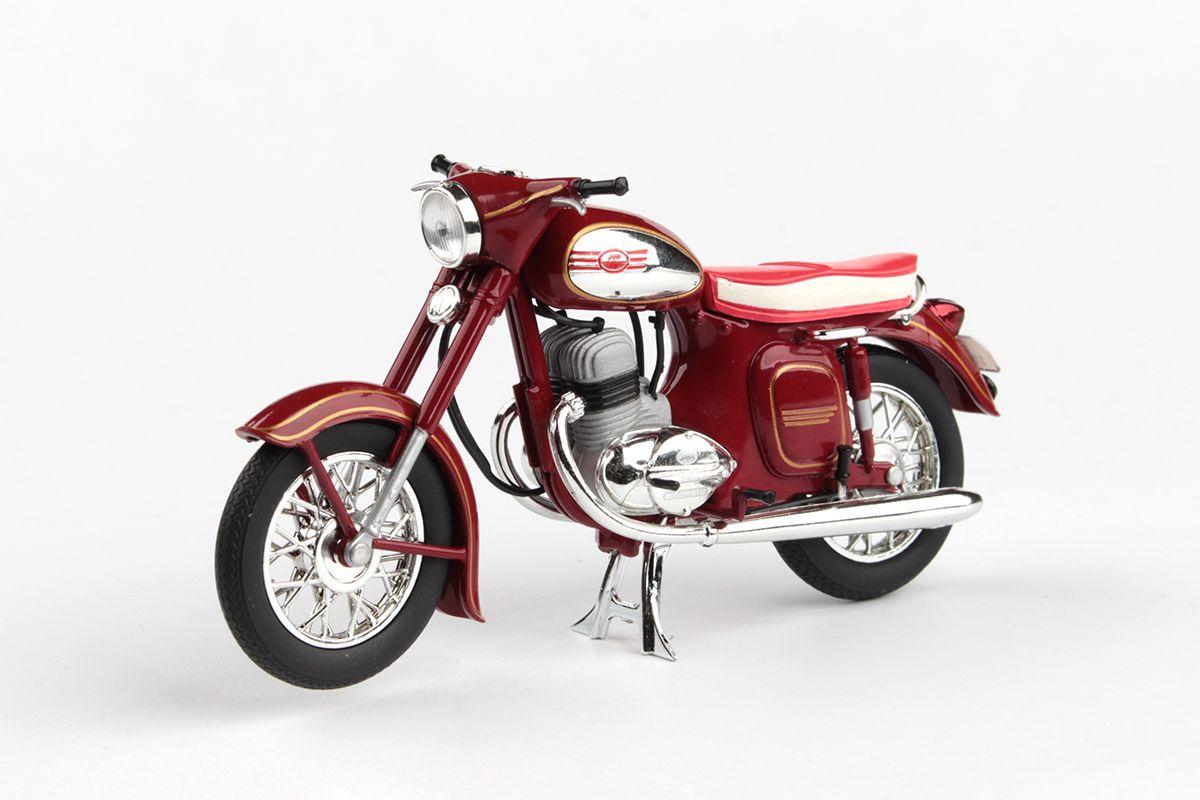 Jawa 350 Kývačka Automatic (1966) 1:18 - Tmavě Červená
